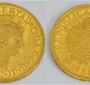 Argentinien 5 Pesos 1887 Gold Sammlermuenze