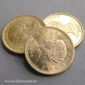 Chile 20 Pesos Gold dos condores