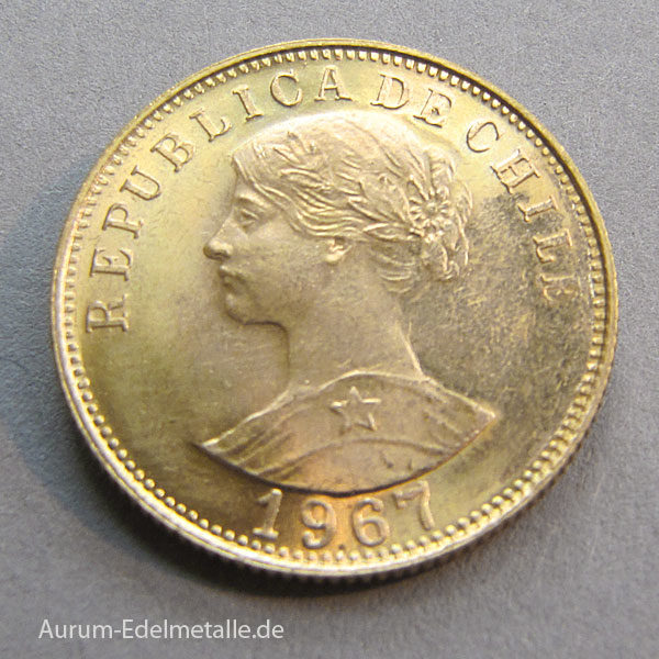 Chilenische 50 Pesos Goldmünze