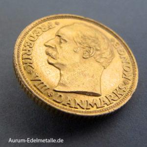 Dänemark 10 Kronen Frederik VIII Goldmünze 1908 -1909