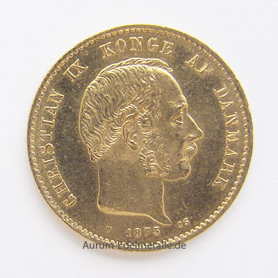 Daenemark 20 Kronen Koenig Christian IX 1873