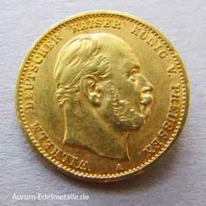 Deutsches Reich 10 Mark Kaiser Wilhelm I Gold 1872-1888