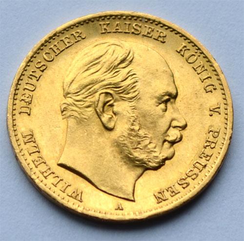 Deutsches Reich 10 Mark Gold Kaiser Wilhelm 1879