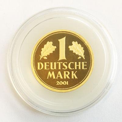 deutschland 1 dm gold 2001 gedenkm nze deutsche mark goldmark. Black Bedroom Furniture Sets. Home Design Ideas