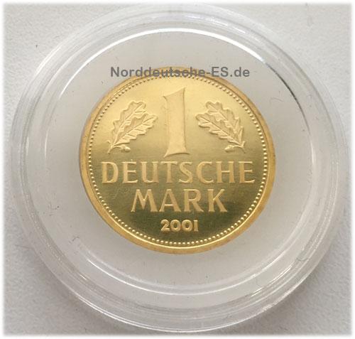 Deutschland 1 DM Gold 2001 Gedenkmünze Deutsche Mark Goldmark