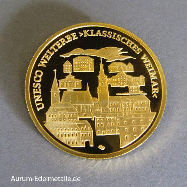 Deutschland 100 Euro Goldmünze 2006 Klassisches Weimar