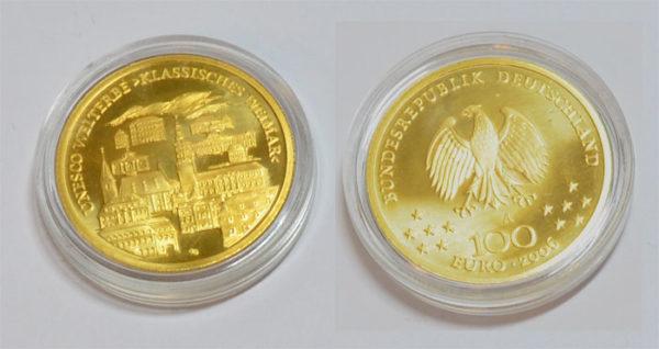 Deutschland 100 Euro Weltkulturerbe Weimar