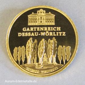 Deutschland 100 Euro Weltkulturerbe Dessau-Woerlitz 1_2oz Feingold 9999