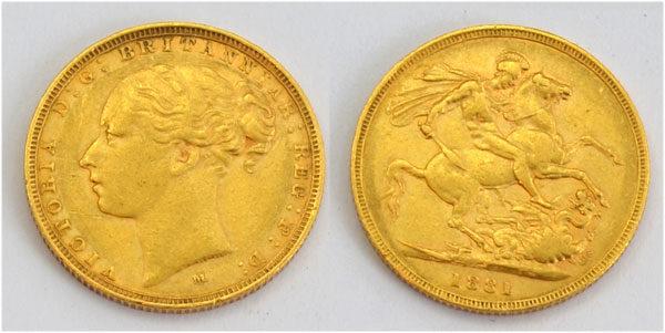 England One Pound Sovereign Queen Victoria