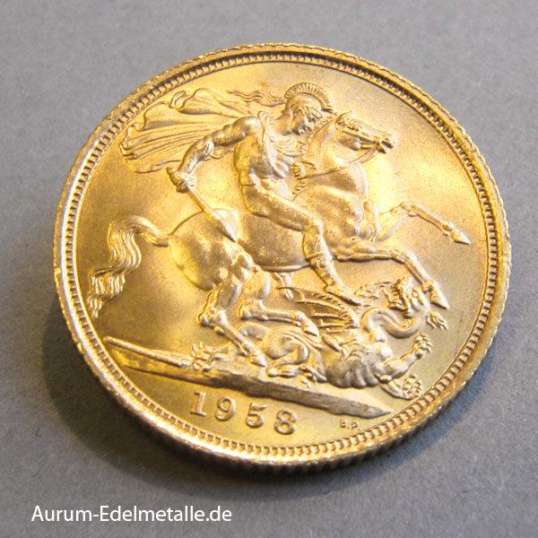 England one Pound Queen Elisabeth II Sovergein