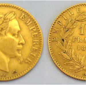 Frankreich 10 Francs Gold Napoleon 1867 Sammlermünze