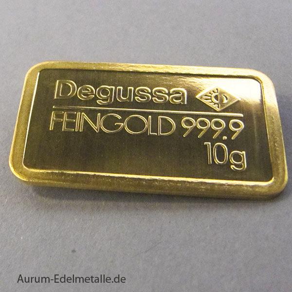 Goldbarren 10g Feingold 9999 verschiedene Hersteller
