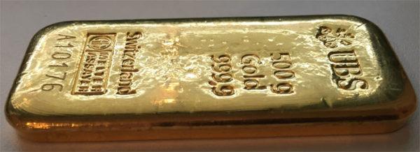 Goldbarren 500g Feingold 9999 verschiedene