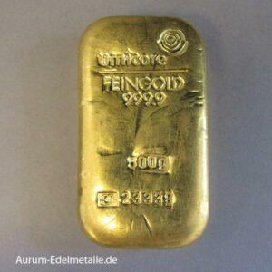 Goldbarren 500g Feingold umicore