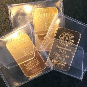Goldbarren20g Feingold 9999
