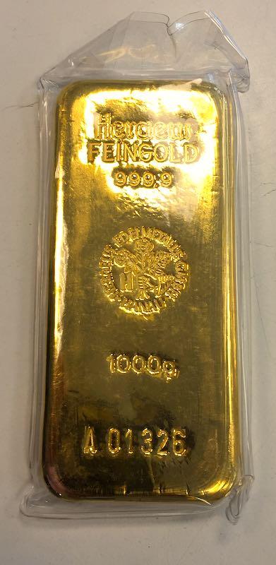 Heraeus 1 Kg Goldbarren