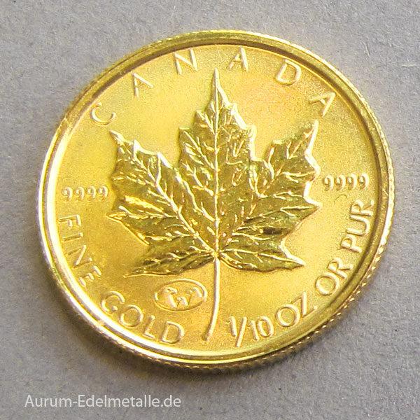 Kanada Maple Leaf 1_10 oz Feingold