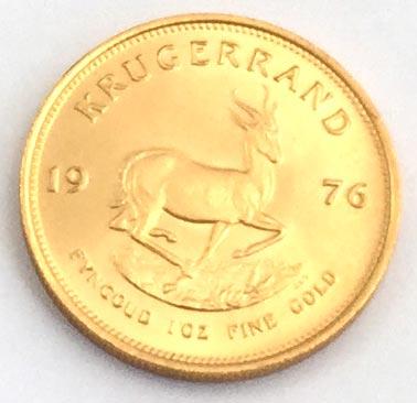 Kruegerrand 1 oz Feingold - Springbok Südafrika Bullion Münze