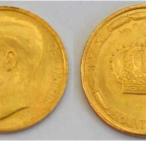 Luxemburg 20 Franken Jean Grand Duc Gold MCML XIV1964