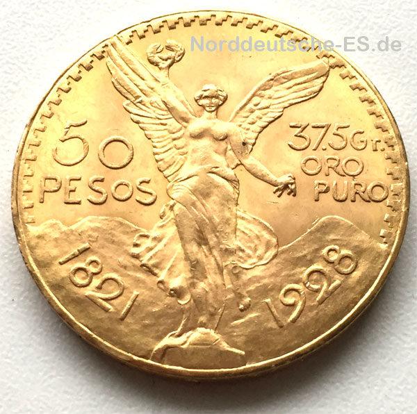 Mexiko 50 Pesos Centenario Libertad Goldmünze