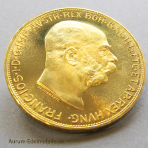 Österreich 100 Kronen Corona Goldmünze 1915
