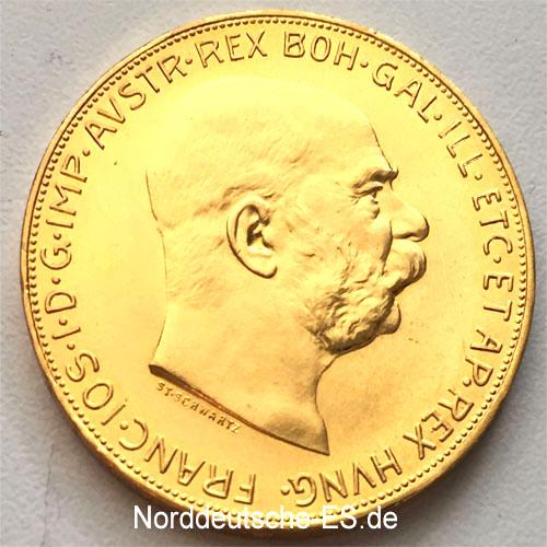 Oesterreich-100-Kronen-Goldmuenze