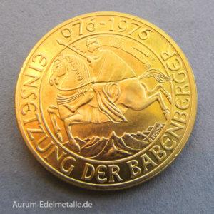Österreich 1000 Schilling Babenberger Gold 1976 Gedenkmünze