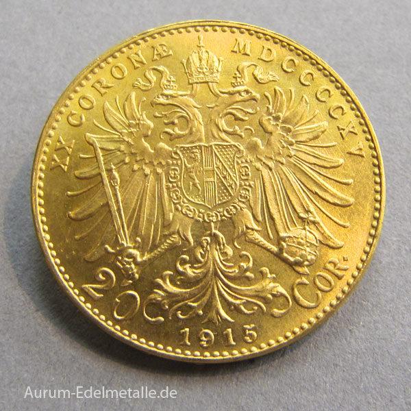 Österreich 20 Kronen Gold Kaiser Franz Joseph I