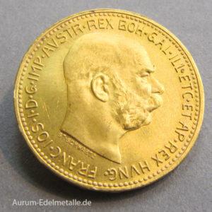 Österreich Goldmünze 20 Kronen Kaiser Franz Joseph