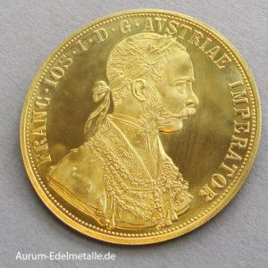 Österreich 4 Dukat Gold 1915 Neuprägung
