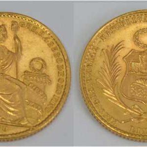 Peru 20 Soles 1960 Gold Sammler und Anlagemuenze