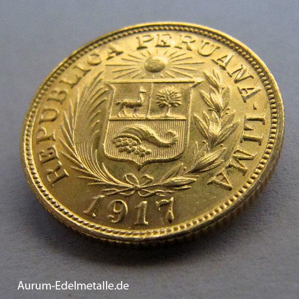 Peru Una Libra Gold 1898-1969