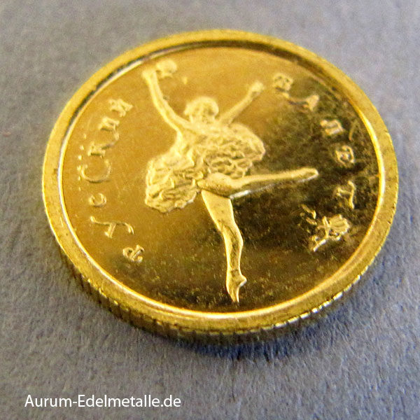 Russland 10 Rubel 1_20 oz Ballerina Feingold 999