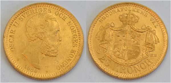 Schweden-Norwegen 20 Kronen 1884 Oscar II