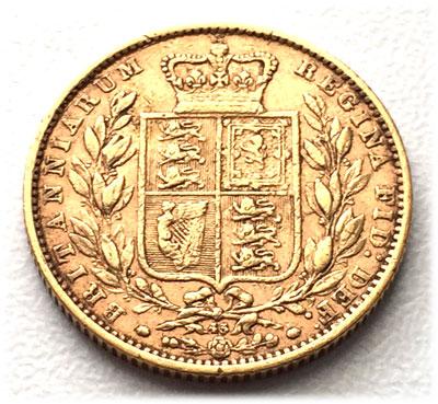 England Gross Britannien One Pound Sovereign 1869