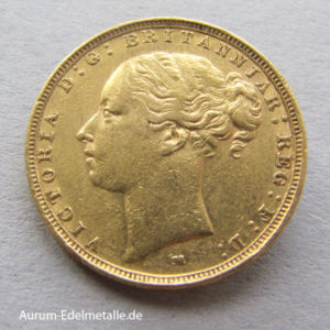 Sovereign Gold Victoria 1871-1885 one pound