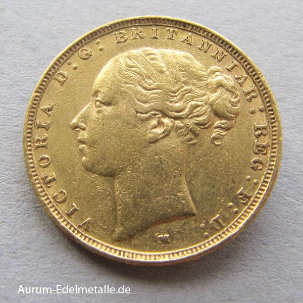 Sovereign Gold Victoria 1871-1885 one pound