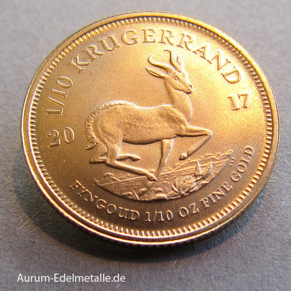 Südafrika Krügerrand 1_10oz Feingold Anlagegold
