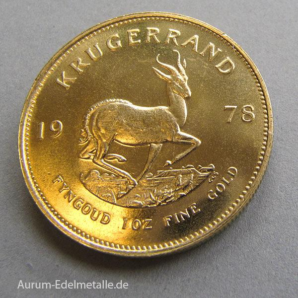 Krügerrand 1 OZ 1 Unze Goldmünze