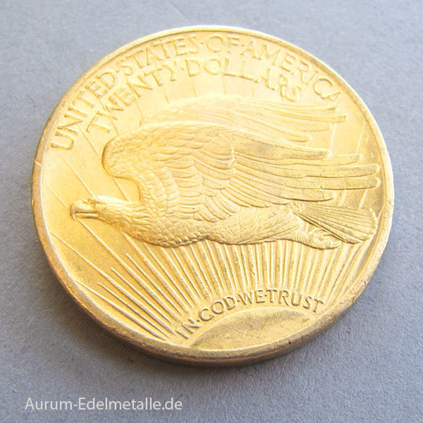 USA 20 Dollars Gold St. Gaudens Double Eagle 1924
