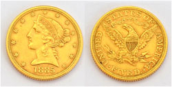 USA 5 $ Dollars Liberty Half-Eagle Goldmünze