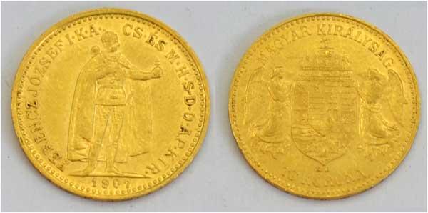 Ungarn 10 Kronen Gold 1907 Kaiser Franz Josef