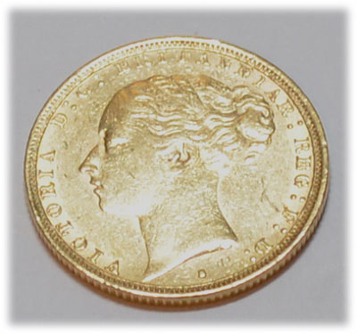 One Pound Sovereign Victoria 1883