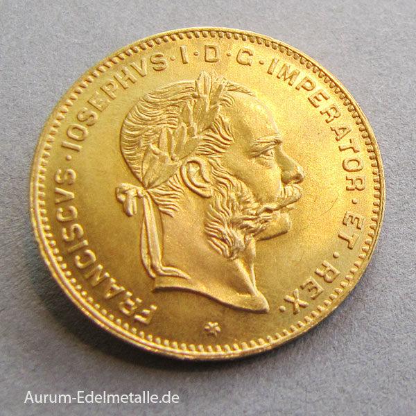 oesteÖsterreich 4 Florin 10 Franken Goldmünzerreich 4 Florin 10 Franken Goldmuenze