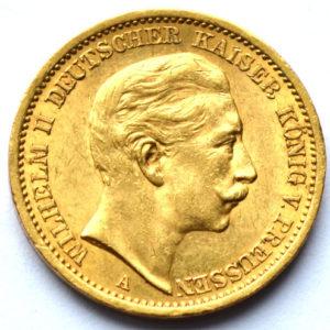 Deutsches Reich 20 Mark Gold 1901 Kaiser Wilhelm II