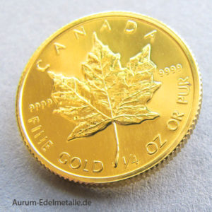 Kanada Maple Leaf 1/4 oz Goldmünze