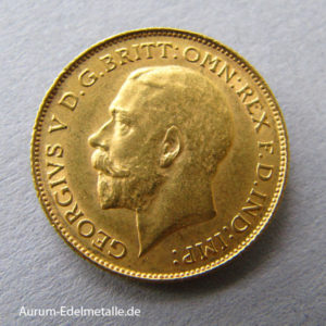 England Half Pound Sovereign George