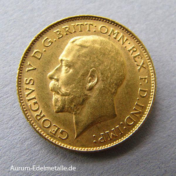 England Half Pound Sovereign George