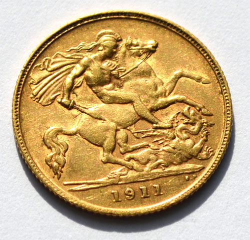 England-King-George--Half-Pound-Sovereign-1911