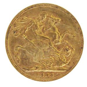 England One Pound Sovereign Queen Victoria 1898 Sammlerst.